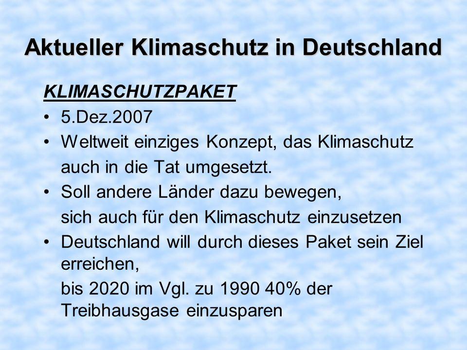 Aktueller Klimaschutz in Deutschland