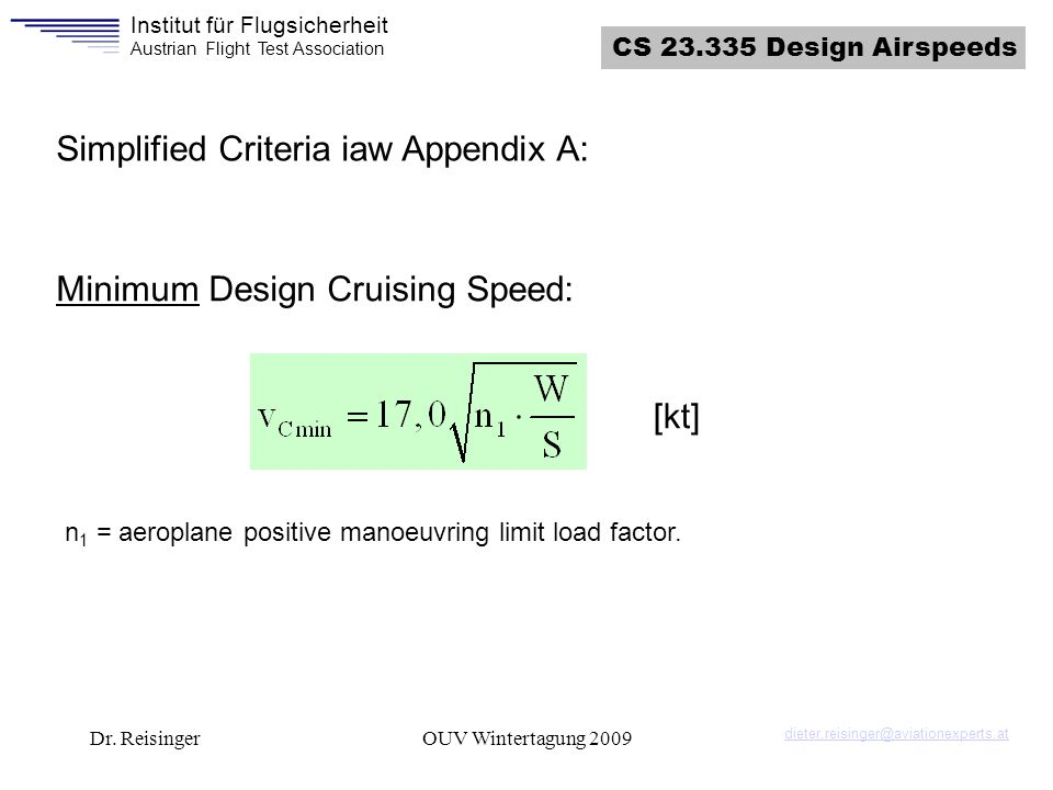 Simplified Criteria iaw Appendix A:
