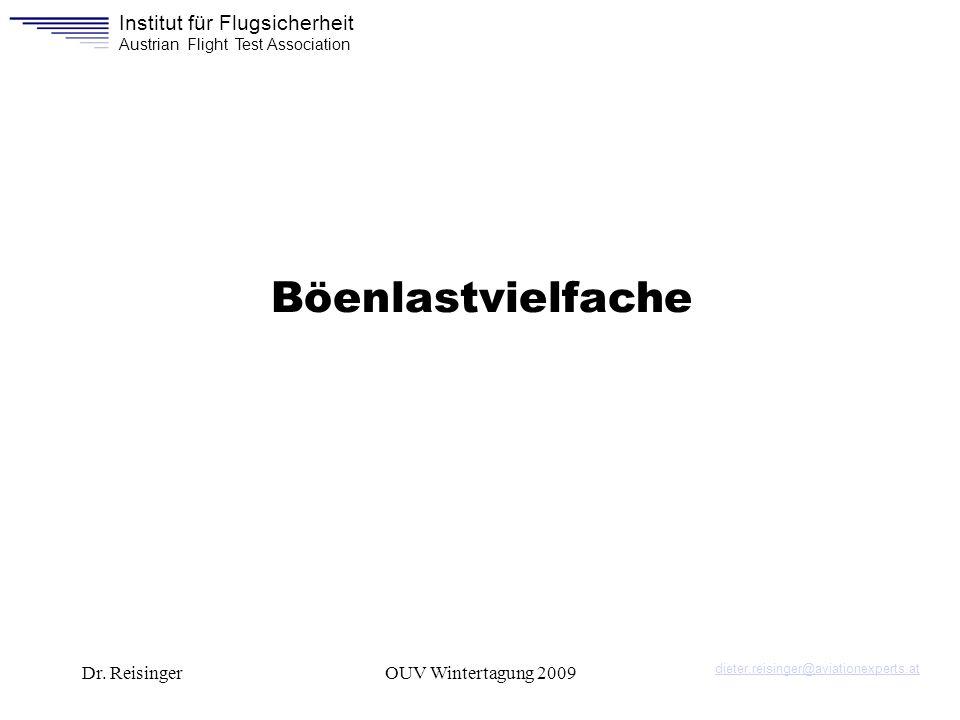 Böenlastvielfache Dr. Reisinger OUV Wintertagung 2009
