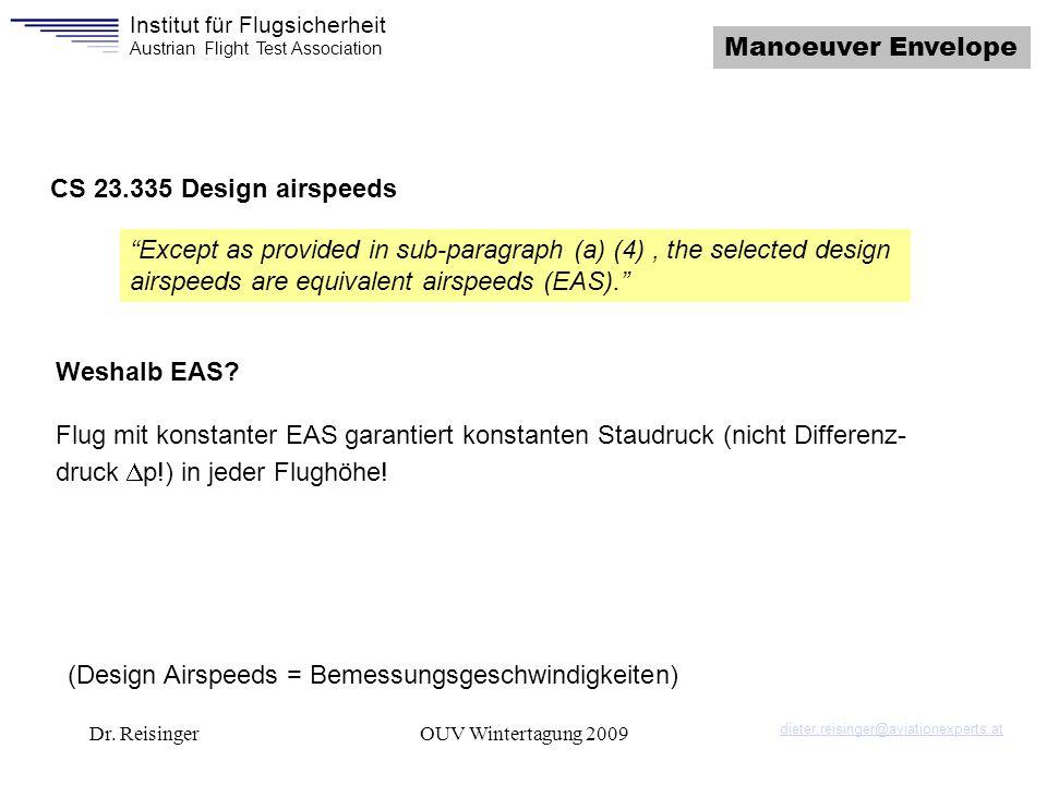 (Design Airspeeds = Bemessungsgeschwindigkeiten)