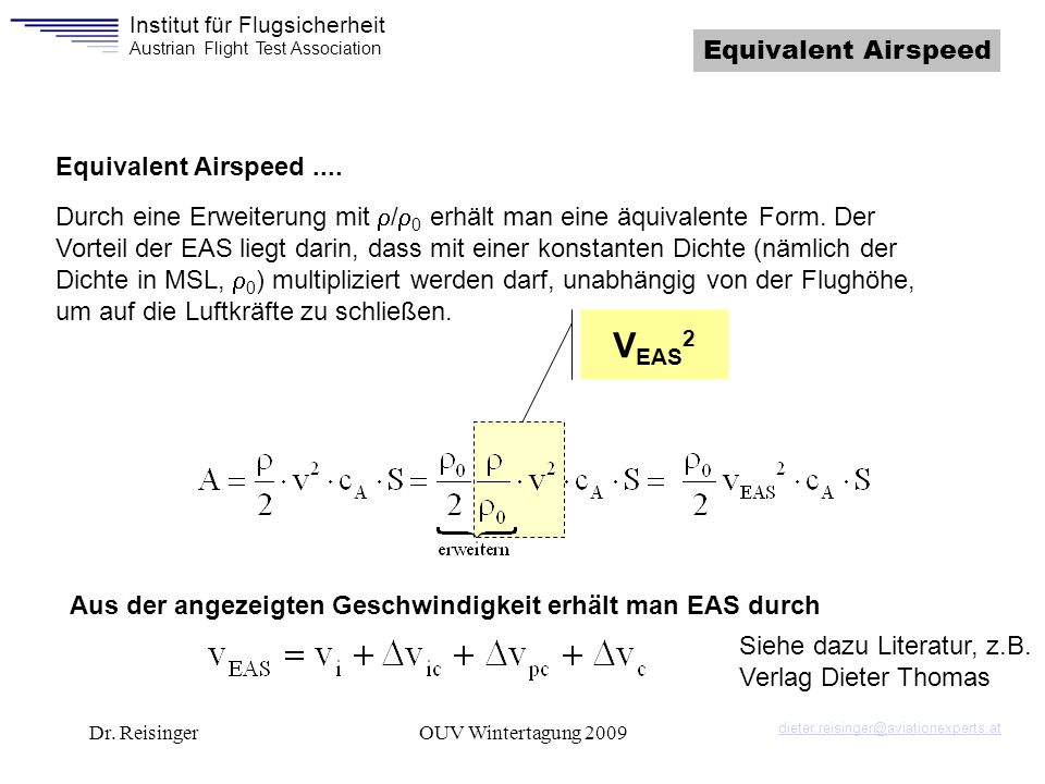 VEAS2 Equivalent Airspeed Equivalent Airspeed ....