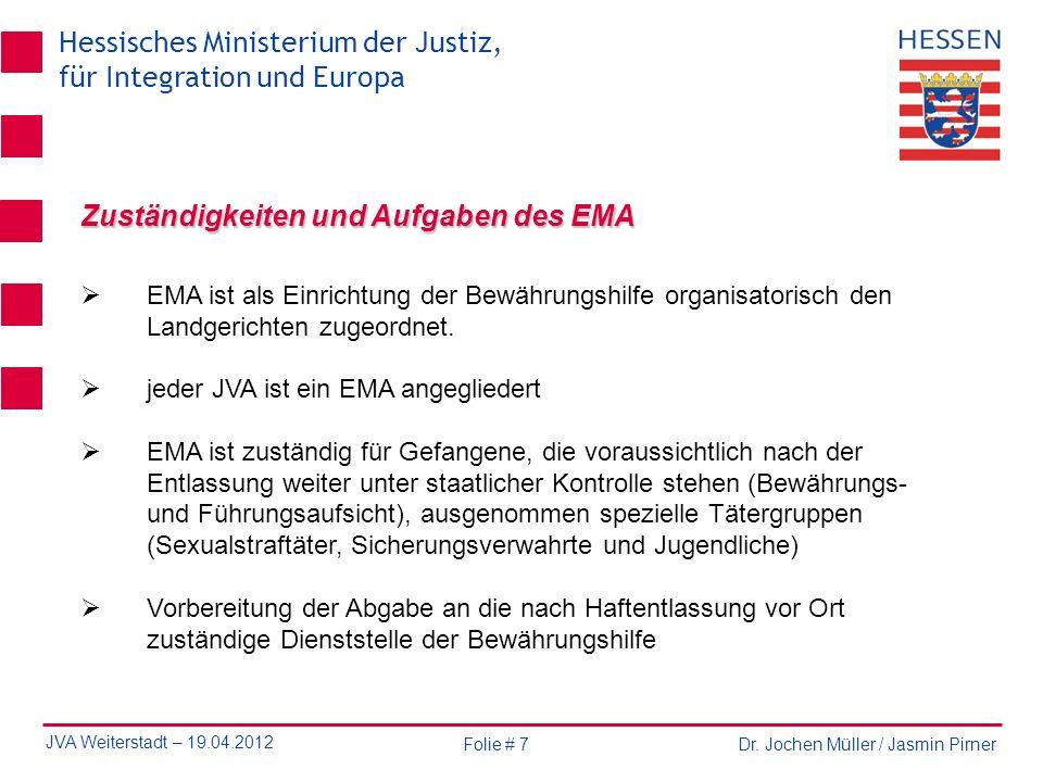 Zuständigkeiten und Aufgaben des EMA