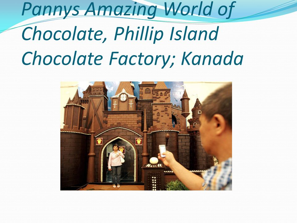 Pannys Amazing World of Chocolate, Phillip Island Chocolate Factory; Kanada