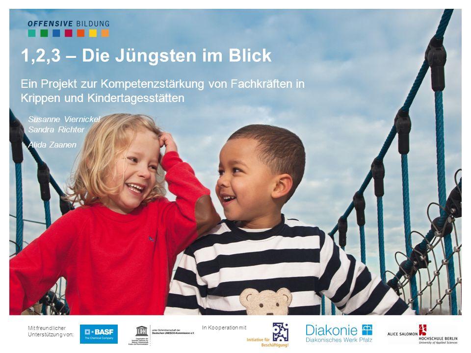 1,2,3 – Die Jüngsten im Blick Ein Projekt zur Kompetenzstärkung von Fachkräften in Krippen und Kindertagesstätten.