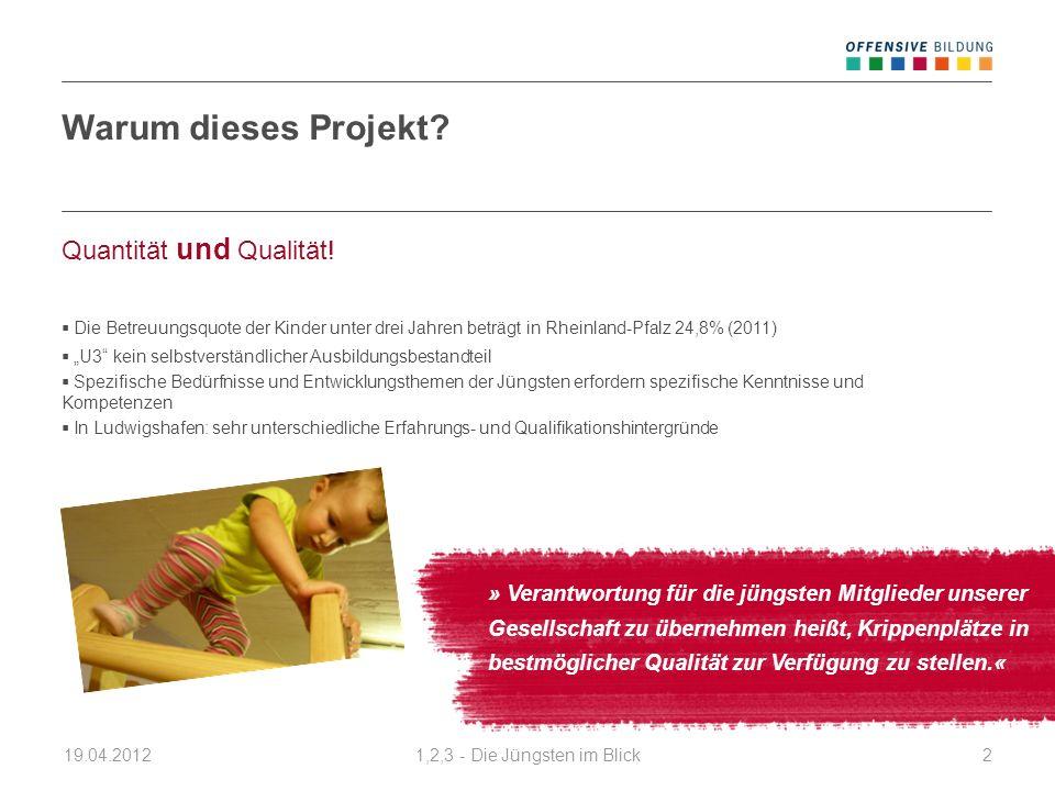 Warum dieses Projekt Quantität und Qualität!