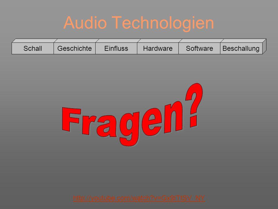 Audio Technologien Fragen Schall Geschichte Einfluss Hardware