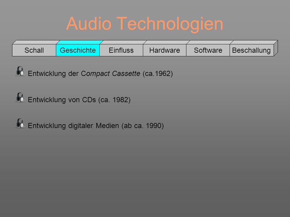 Audio Technologien Schall Geschichte Einfluss Hardware Software