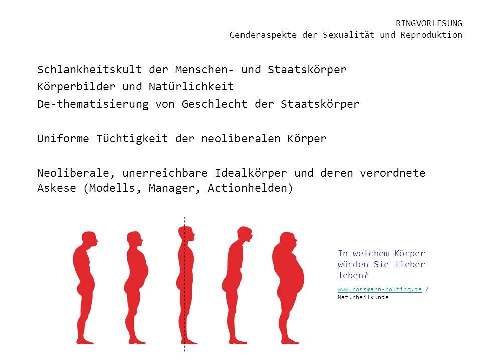 RINGVORLESUNG Genderaspekte der Sexualität und Reproduktion