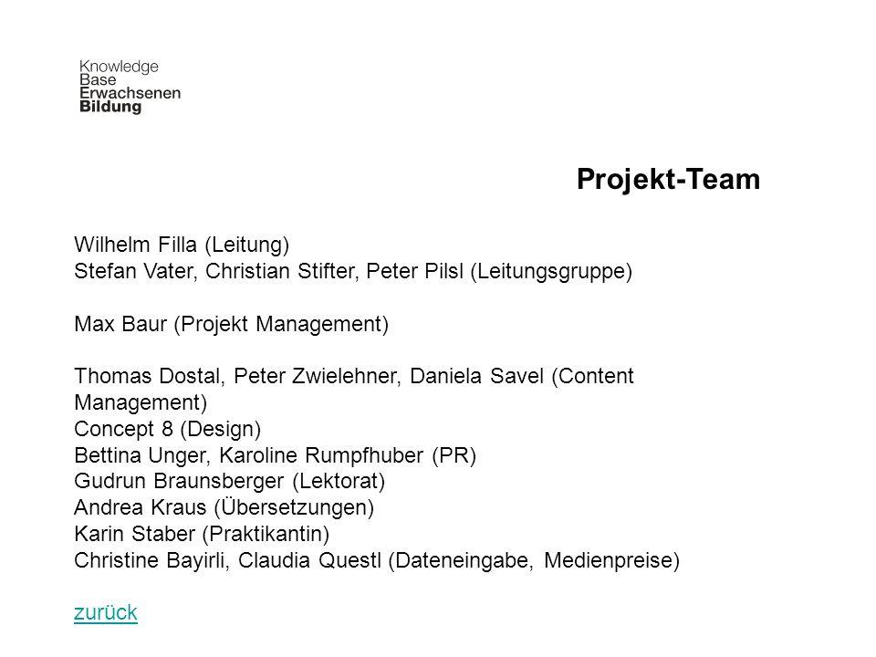 Projekt-Team Wilhelm Filla (Leitung)