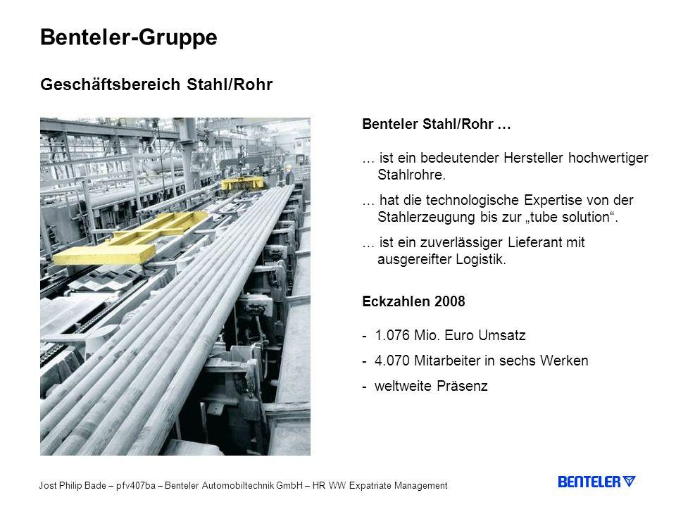 Benteler-Gruppe Geschäftsbereich Stahl/Rohr Benteler Stahl/Rohr …