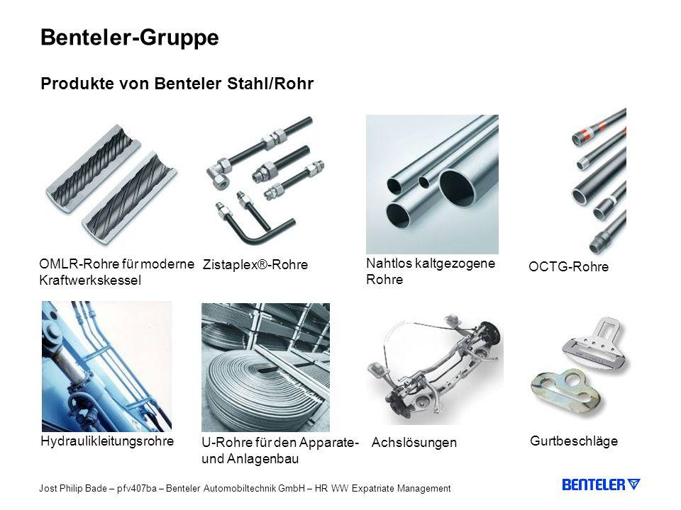 Benteler-Gruppe Produkte von Benteler Stahl/Rohr