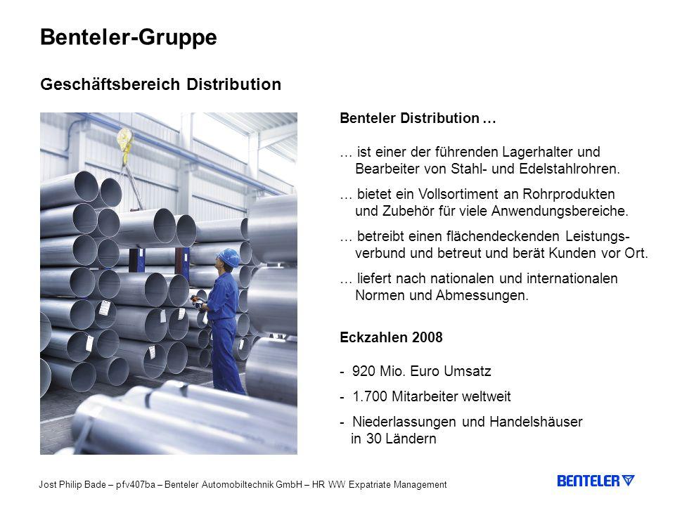 Benteler-Gruppe Geschäftsbereich Distribution Benteler Distribution …