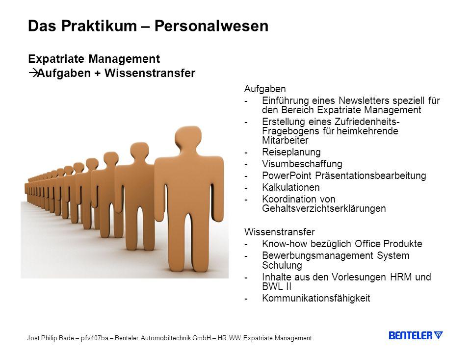 Das Praktikum – Personalwesen