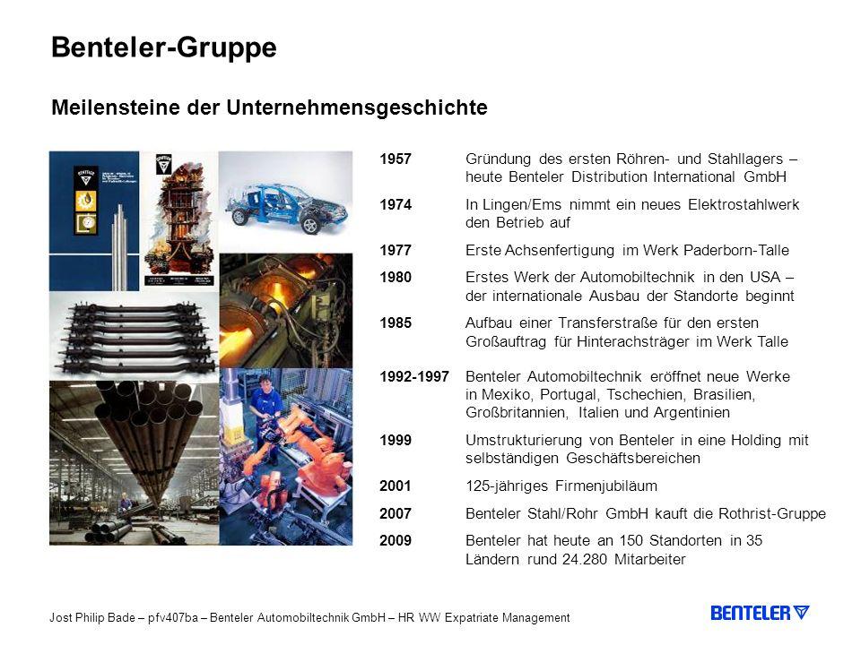 Benteler-Gruppe Meilensteine der Unternehmensgeschichte