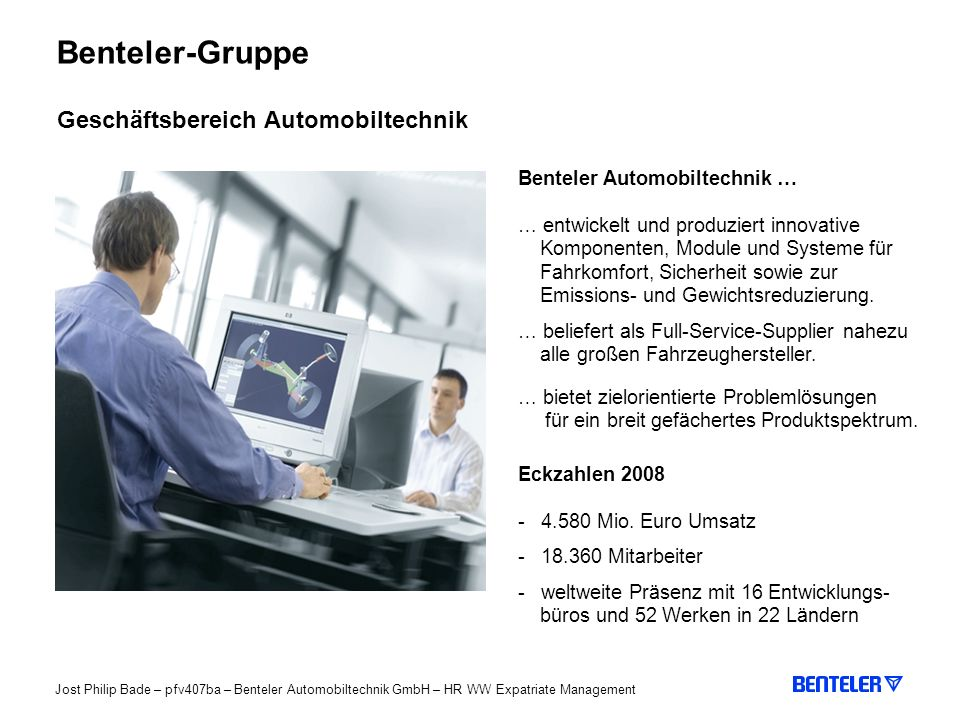 Benteler-Gruppe Geschäftsbereich Automobiltechnik
