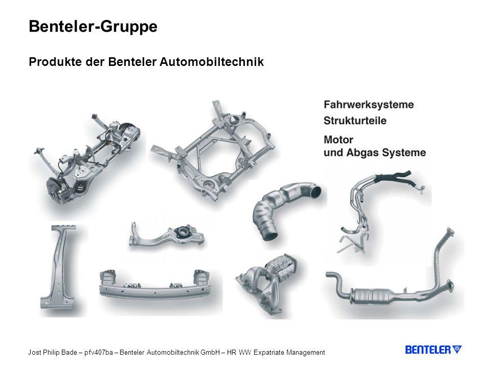 Benteler-Gruppe Produkte der Benteler Automobiltechnik