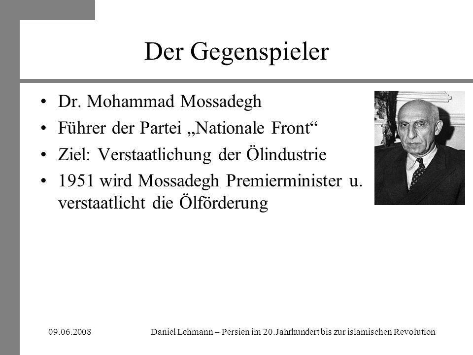 Der Gegenspieler Dr. Mohammad Mossadegh