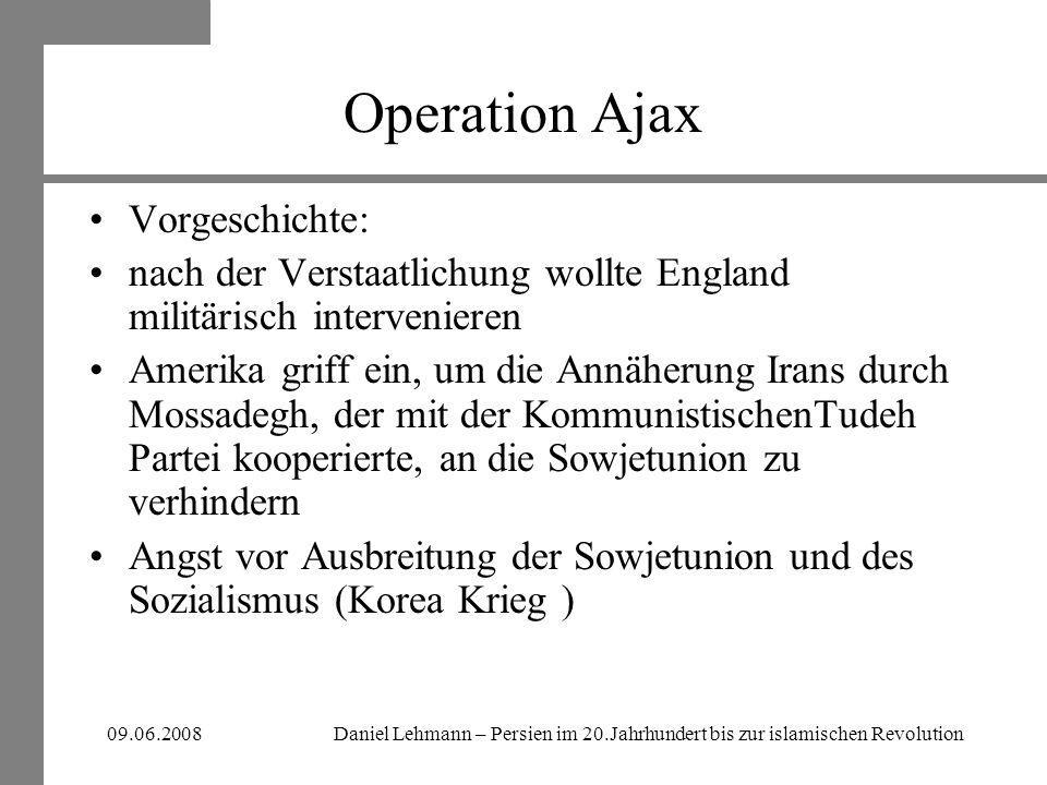 Operation Ajax Vorgeschichte: