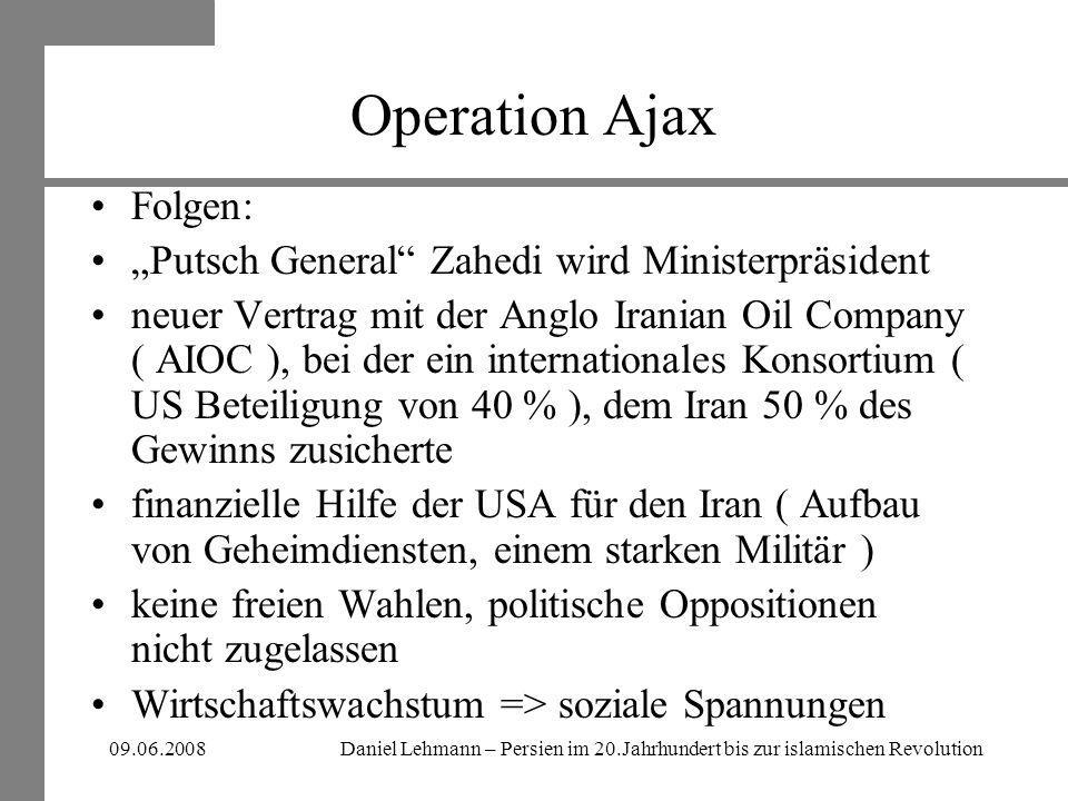 "Operation Ajax Folgen: ""Putsch General Zahedi wird Ministerpräsident"