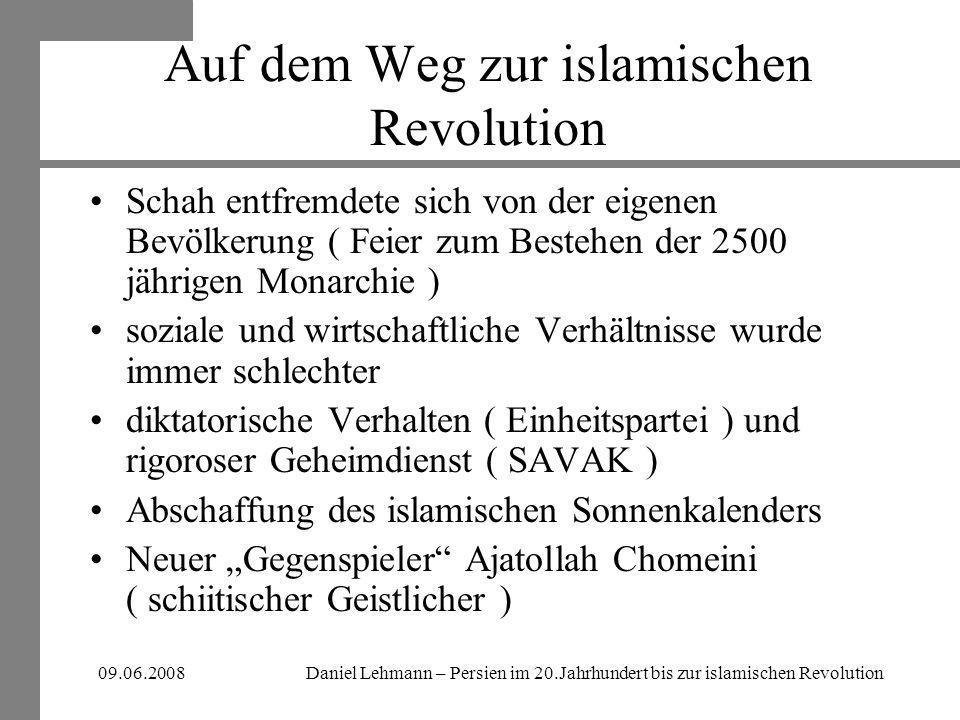 Auf dem Weg zur islamischen Revolution