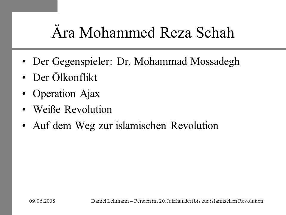 Ära Mohammed Reza Schah