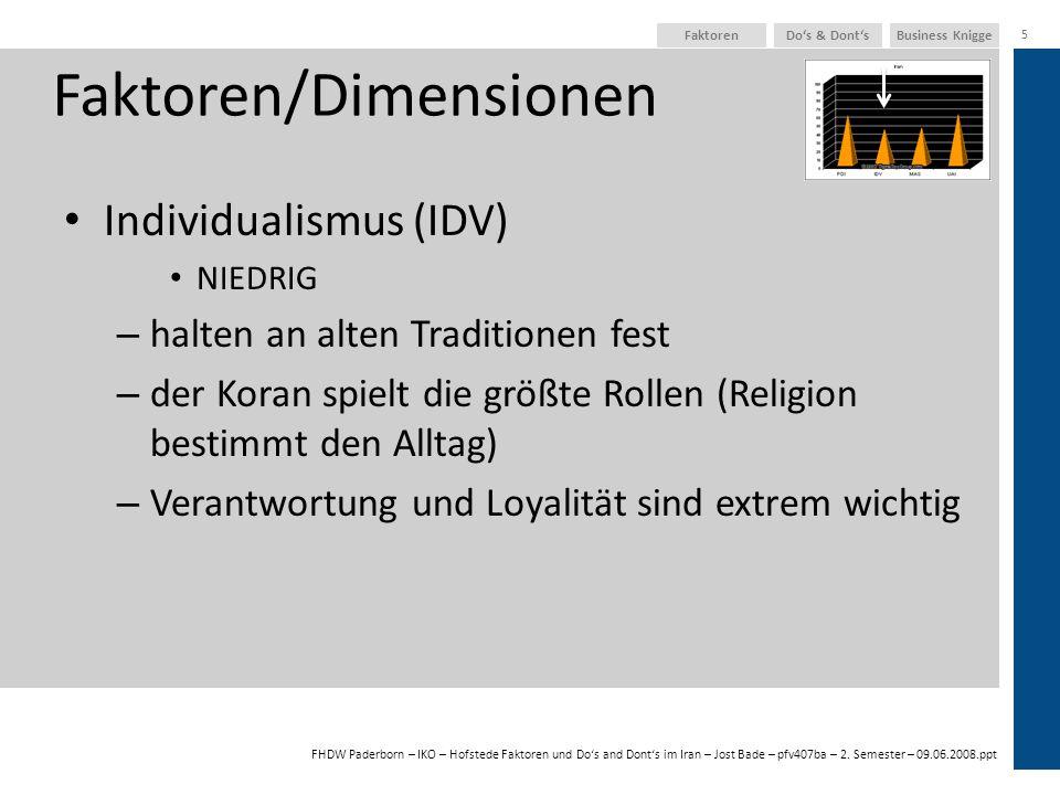 Faktoren/Dimensionen