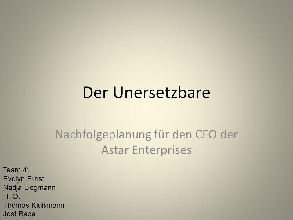 Nachfolgeplanung für den CEO der Astar Enterprises