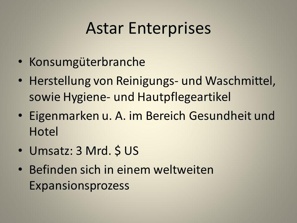 Astar Enterprises Konsumgüterbranche