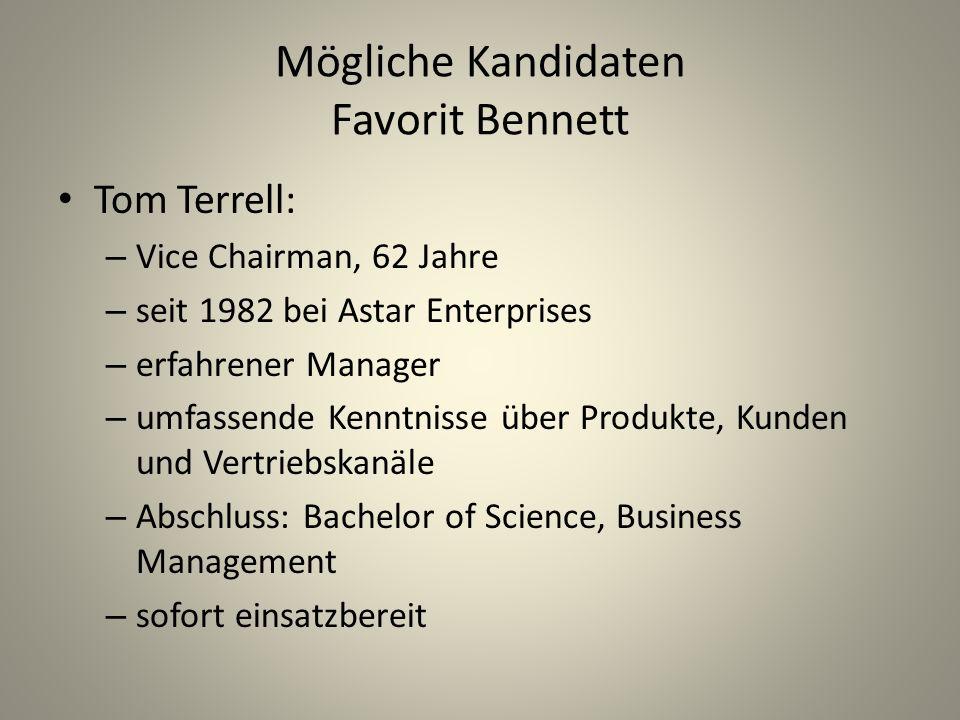 Mögliche Kandidaten Favorit Bennett
