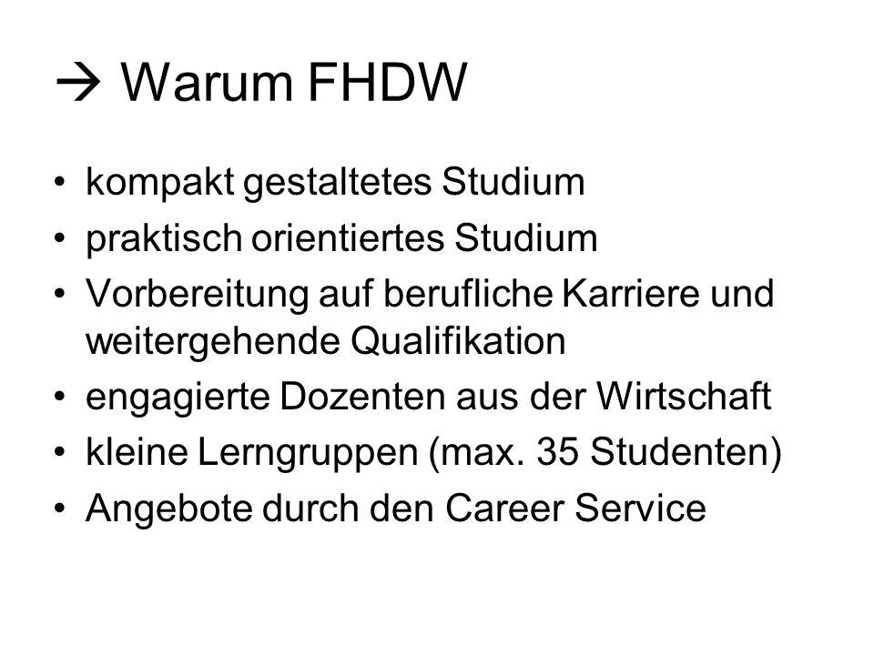  Warum FHDW kompakt gestaltetes Studium