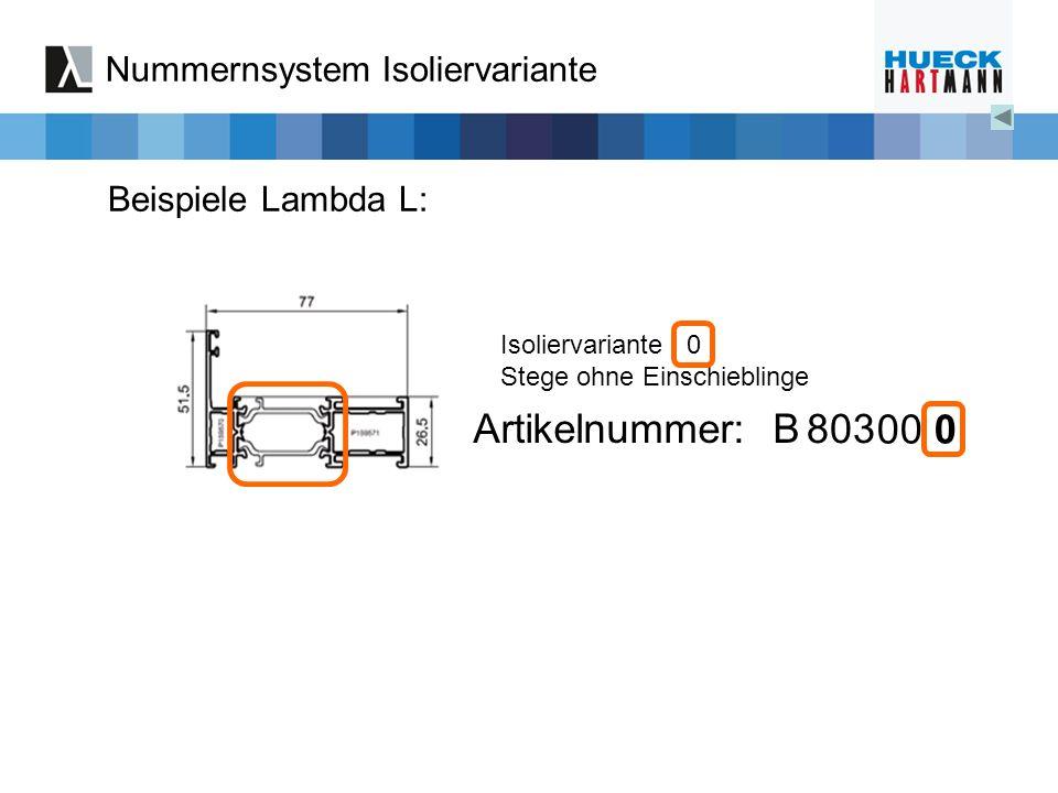 Nummernsystem Isoliervariante