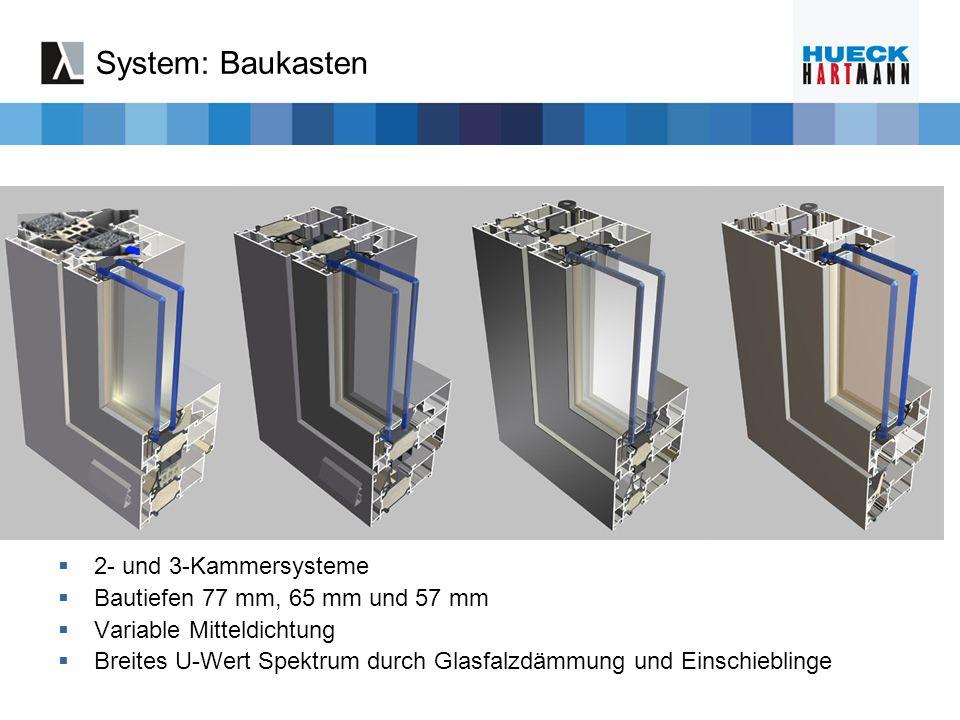 System: Baukasten 2- und 3-Kammersysteme