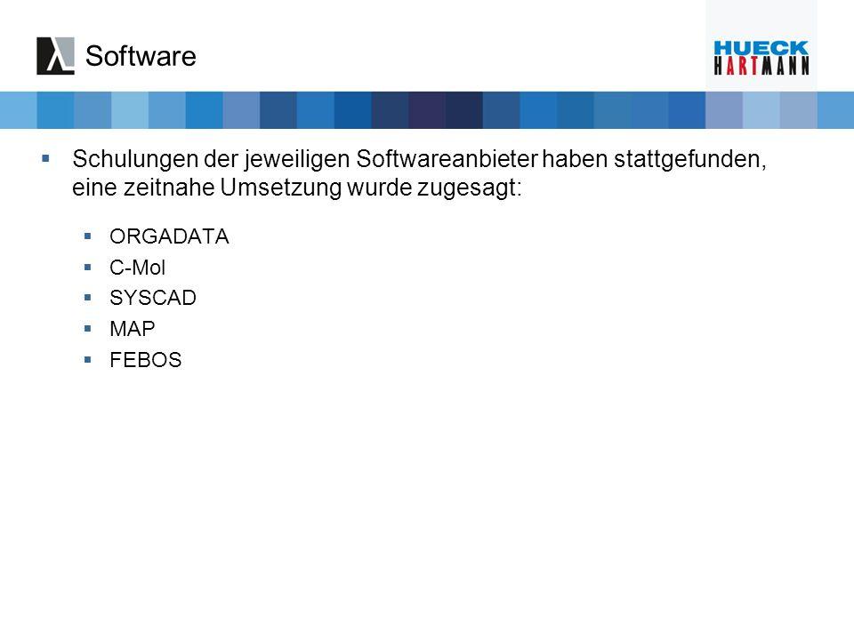 Software Schulungen der jeweiligen Softwareanbieter haben stattgefunden, eine zeitnahe Umsetzung wurde zugesagt: