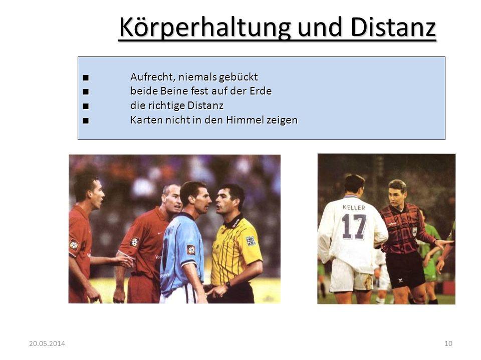 Körperhaltung und Distanz
