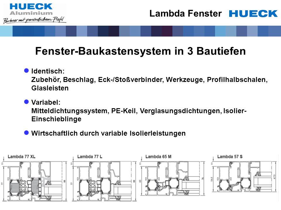 Fenster-Baukastensystem in 3 Bautiefen