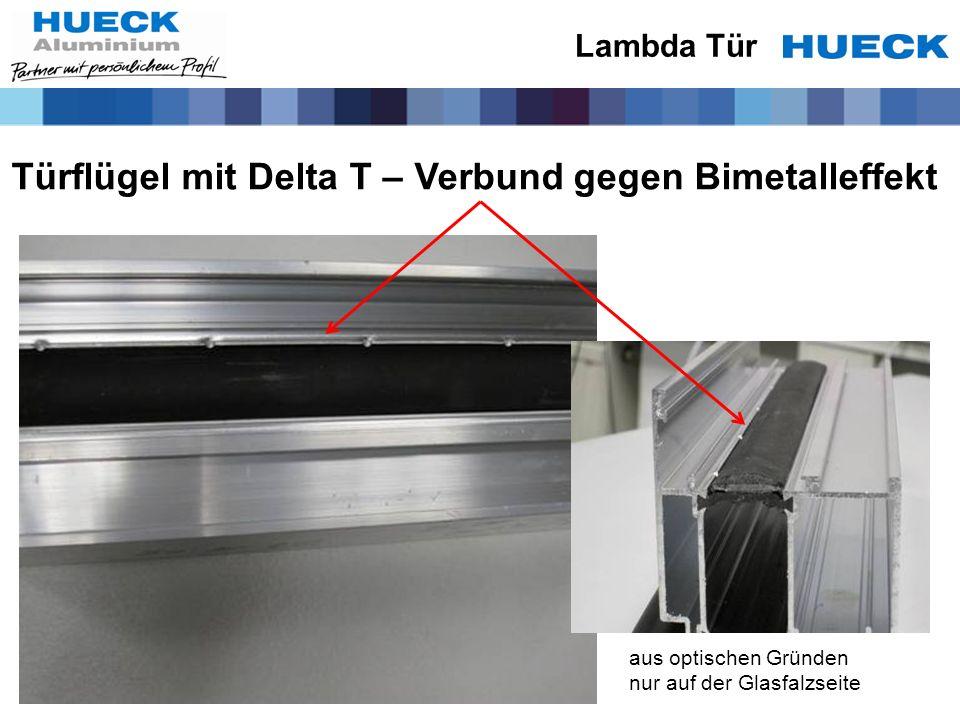 Türflügel mit Delta T – Verbund gegen Bimetalleffekt