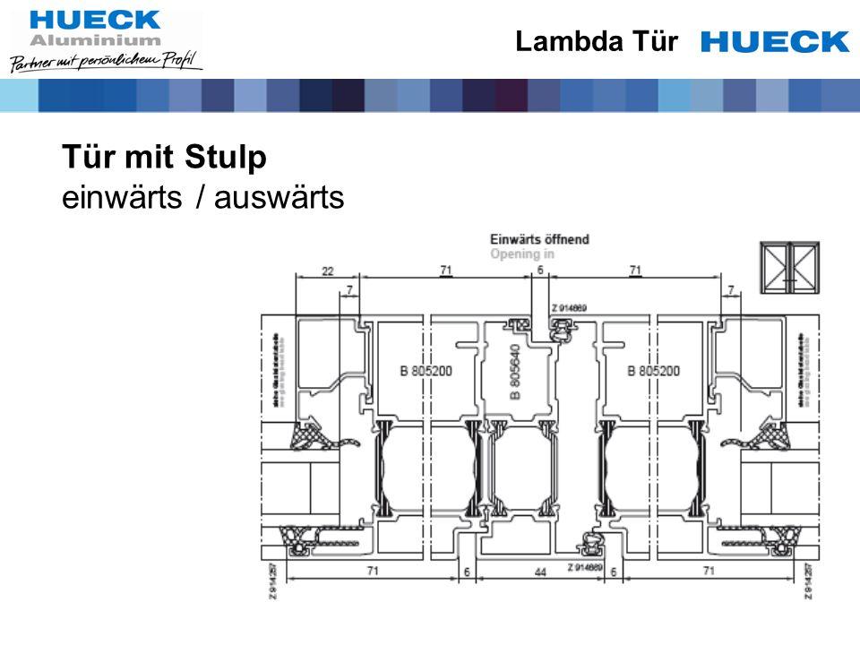 Lambda Tür Tür mit Stulp einwärts / auswärts