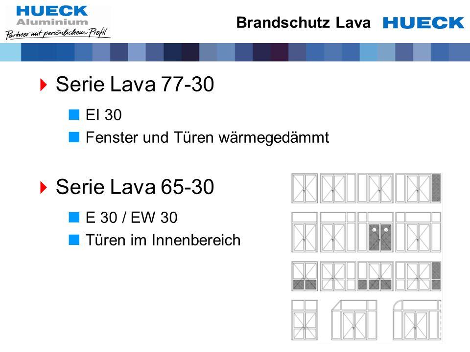 Serie Lava 77-30 Serie Lava 65-30 Brandschutz Lava EI 30