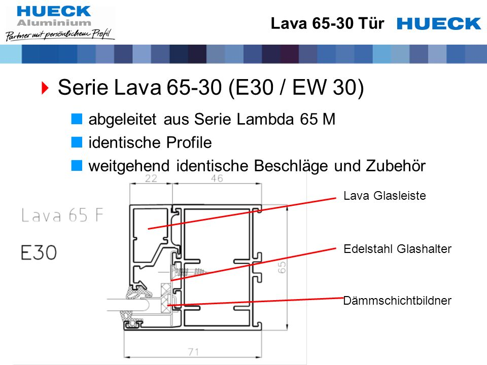 Serie Lava 65-30 (E30 / EW 30) Lava 65-30 Tür
