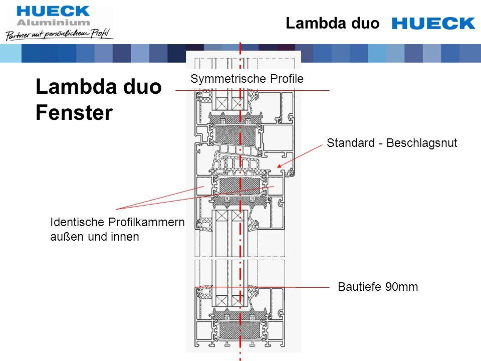 Lambda duo Fenster Lambda duo Symmetrische Profile