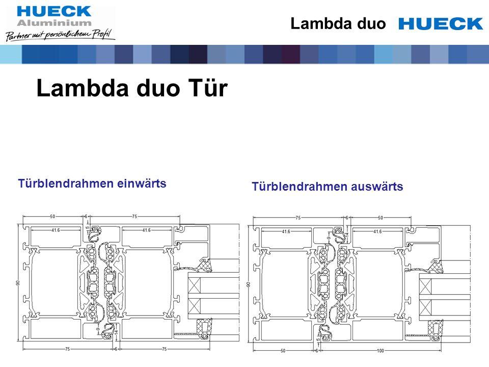 Lambda duo Tür Lambda duo Türblendrahmen einwärts