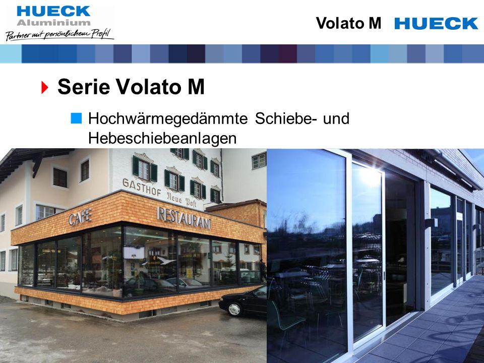 Volato M Serie Volato M Hochwärmegedämmte Schiebe- und Hebeschiebeanlagen