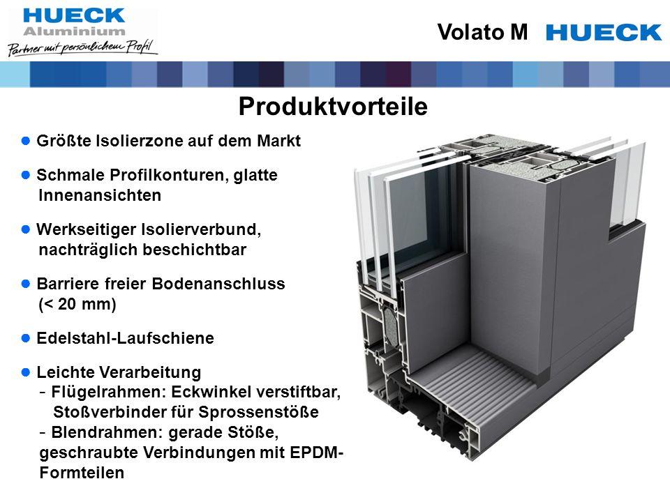 Produktvorteile Volato M Größte Isolierzone auf dem Markt