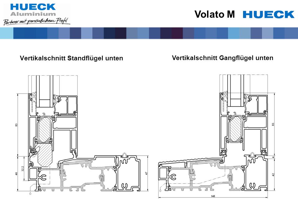 Volato M Vertikalschnitt Standflügel unten