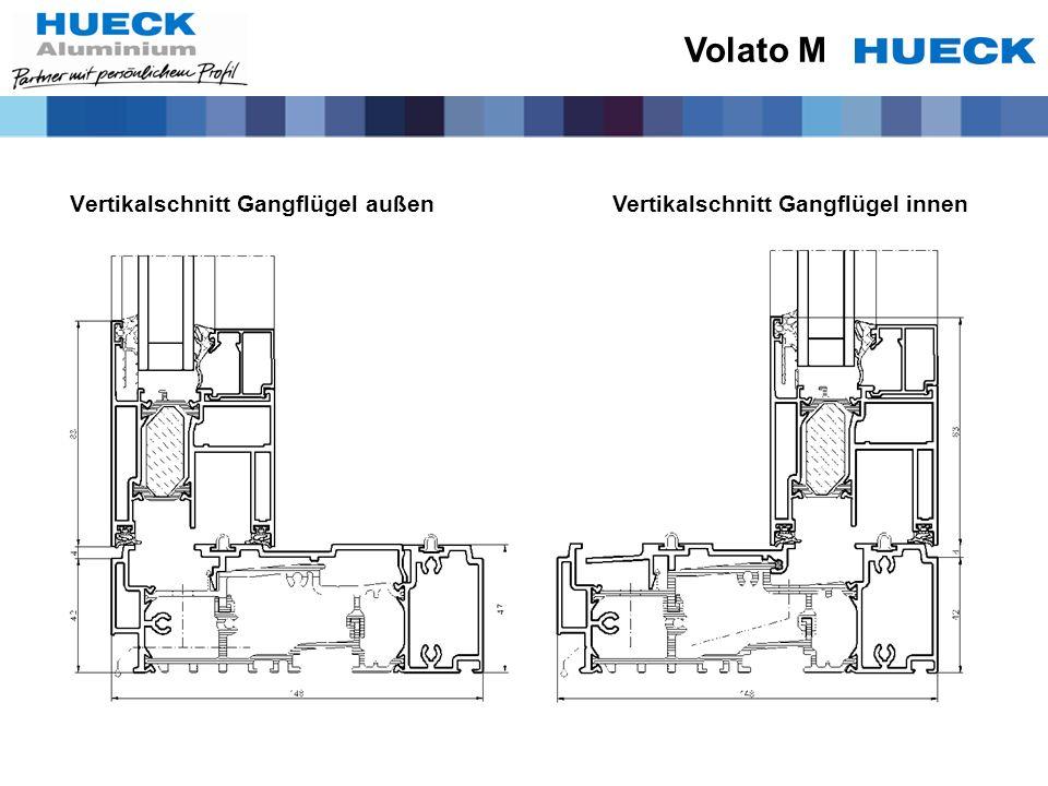 Volato M Vertikalschnitt Gangflügel außen