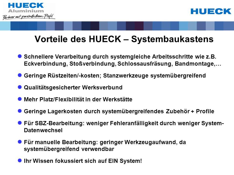 Vorteile des HUECK – Systembaukastens