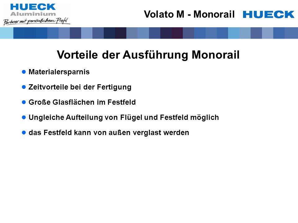 Vorteile der Ausführung Monorail