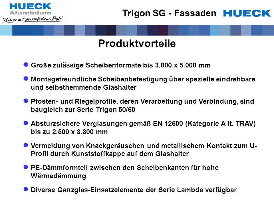 Produktvorteile Trigon SG - Fassaden
