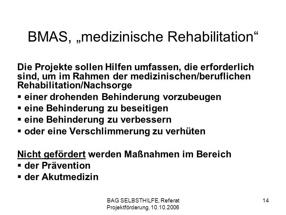 "BMAS, ""medizinische Rehabilitation"