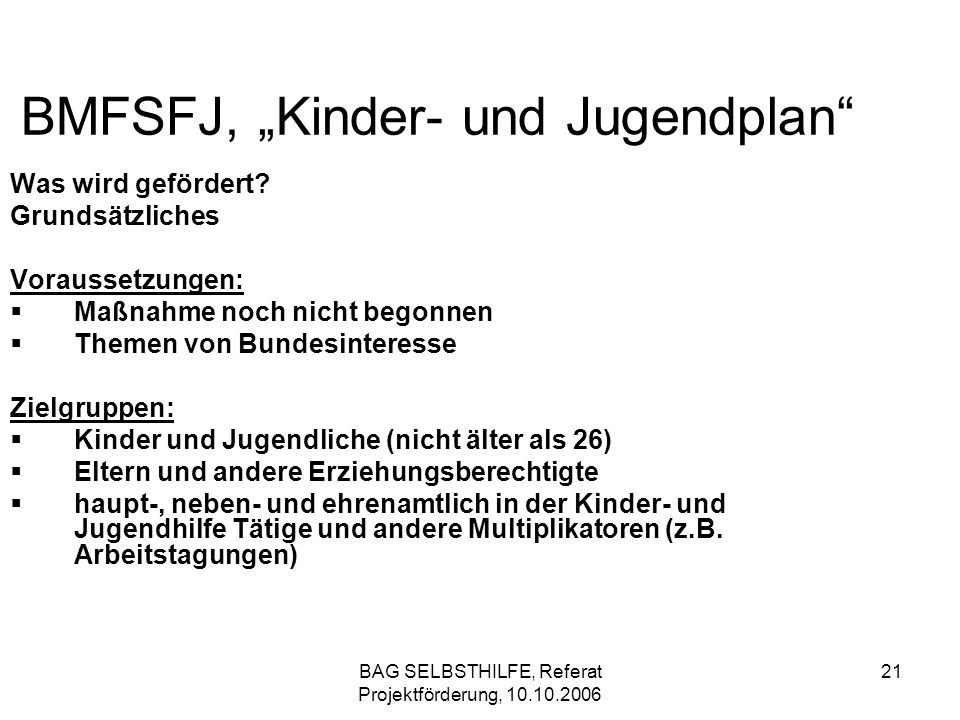 "BMFSFJ, ""Kinder- und Jugendplan"